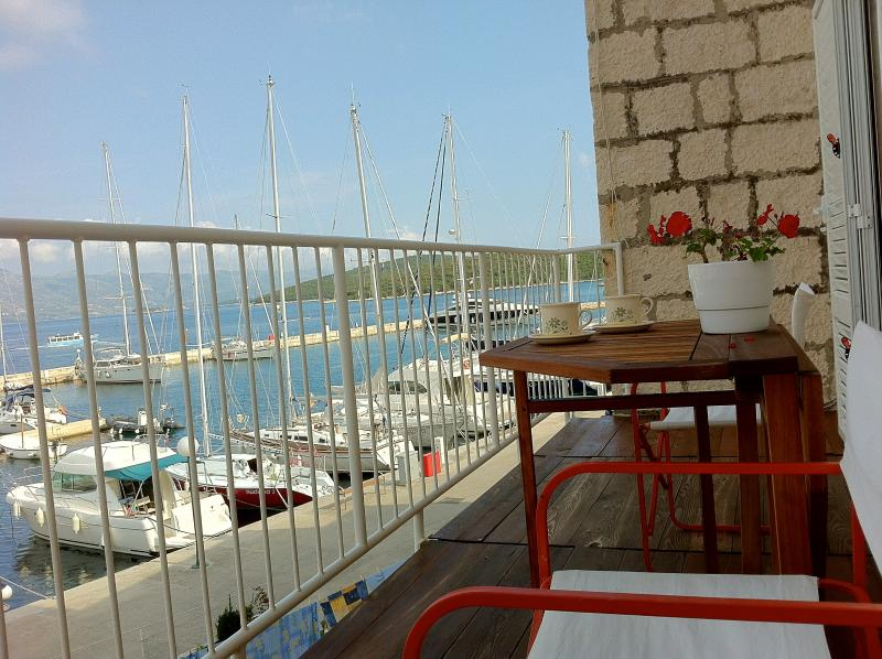 Relax and enjoy a breakfast with the view to old town and yacht marina.