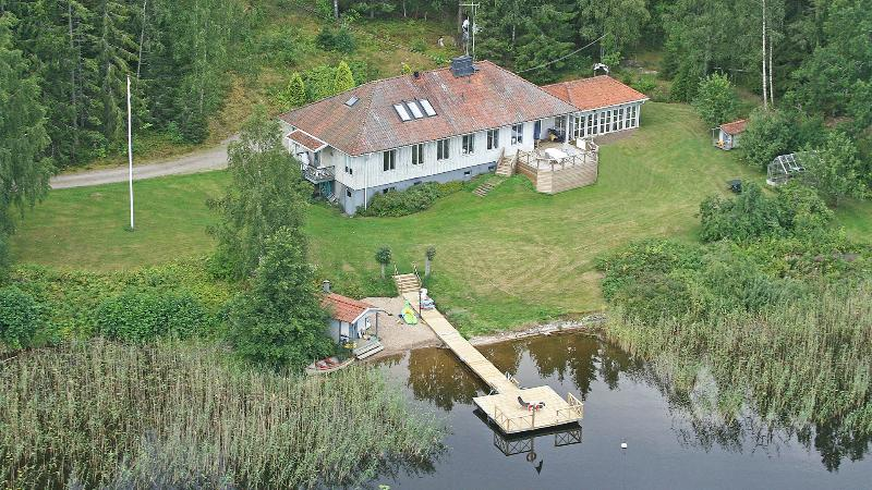 Flight photo of Aspenäs - the only house by the lake Aspen - all this will be only for You :-)