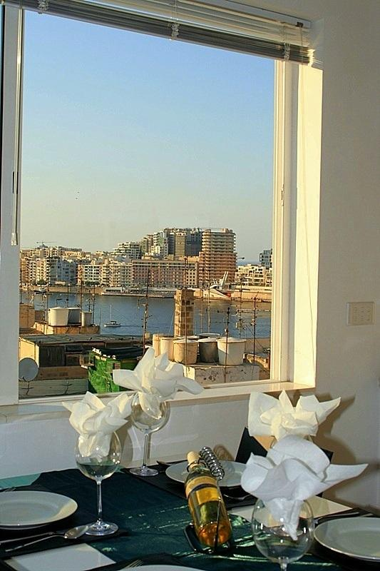 Dining with a superb view of Sliema setting your scene