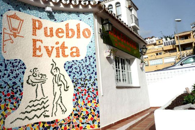 Pueblo Evita reception (opposite the apartment block)