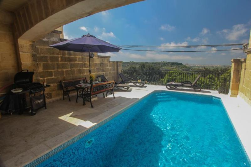 A private tranquil pool terrace