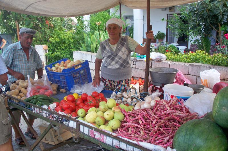 Saturday market in Datca