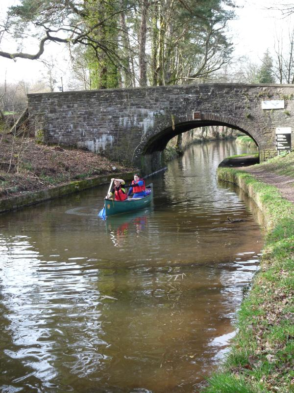 Canoe on Monmouthshire and Brecon Canal