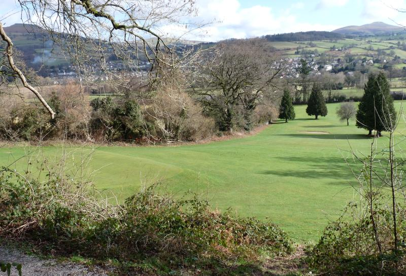 Llangattock golf course (400 yards from property)