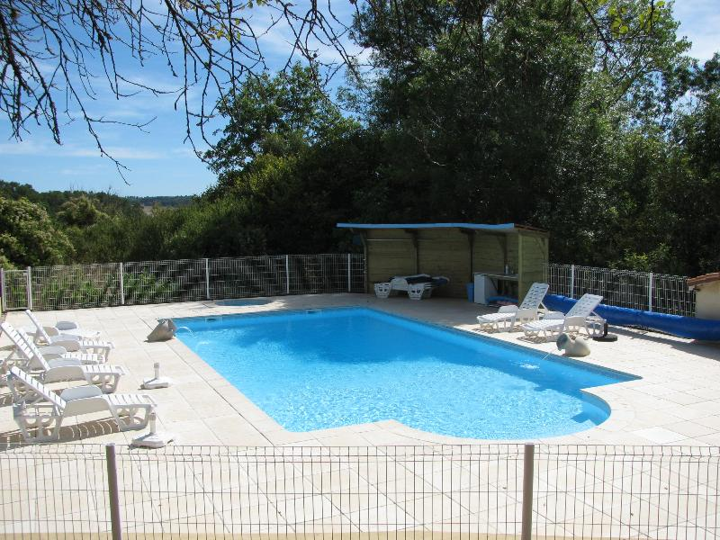 Heated swimming pool 11m x 5m with secure fencing