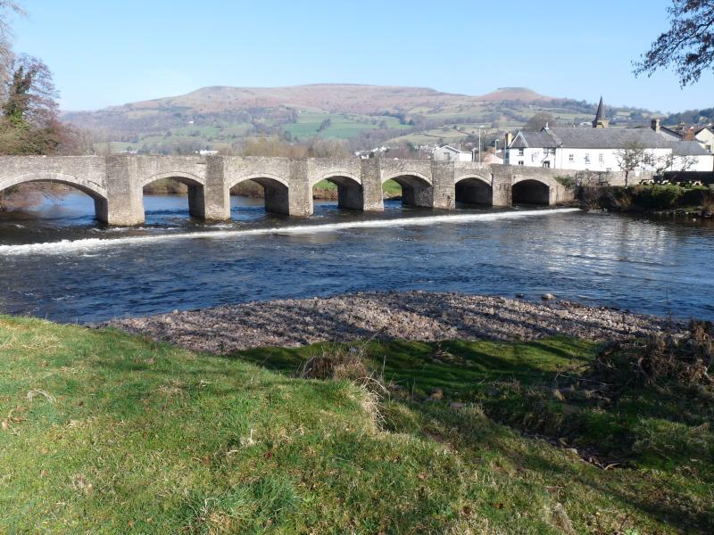 Crickhowell Bridge and River Usk