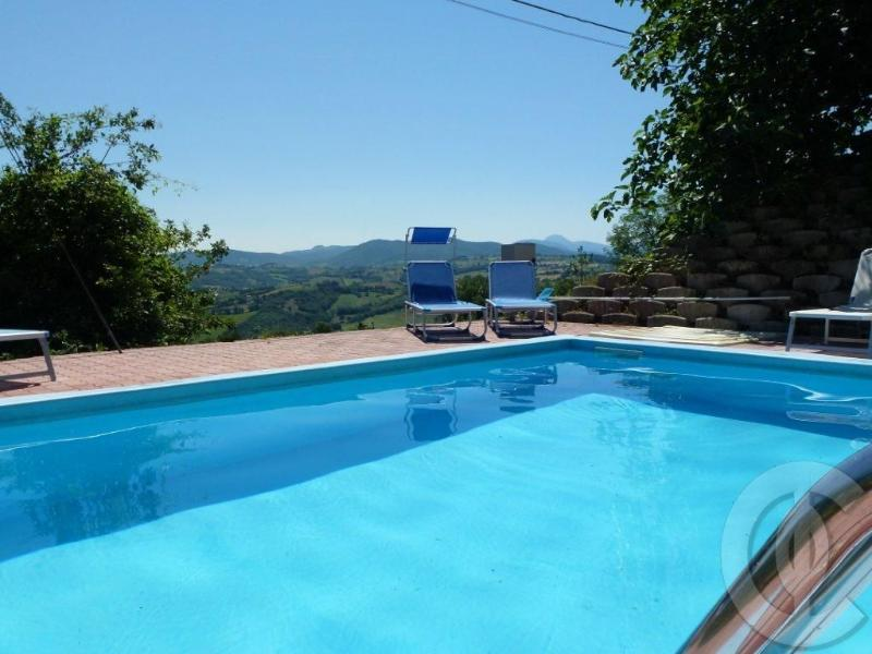 External pool with amazing hill view