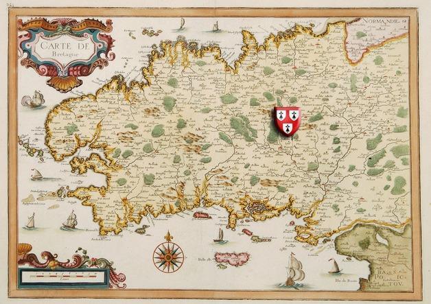 La Maison Manoir Holiday in Brittany Meneac - Map Carte de Central Bretagne