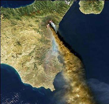 Etna en erupción