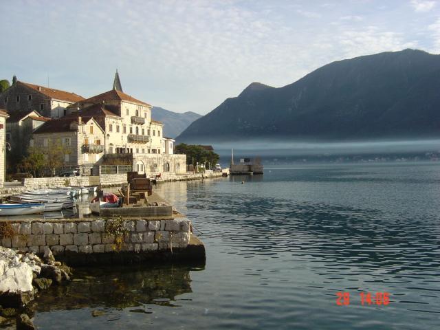View around the Kotor bay fiord near Villa