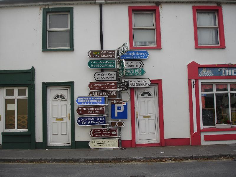 Ballyvaughan village with many cafes/shops/restaurants/trad pubs/harbour/beach & picturesque vie