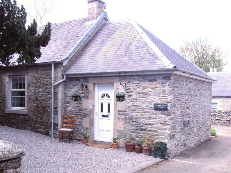 Cottage entrance with private parking for 2 or more vehicles, Colterscleuch Cottage