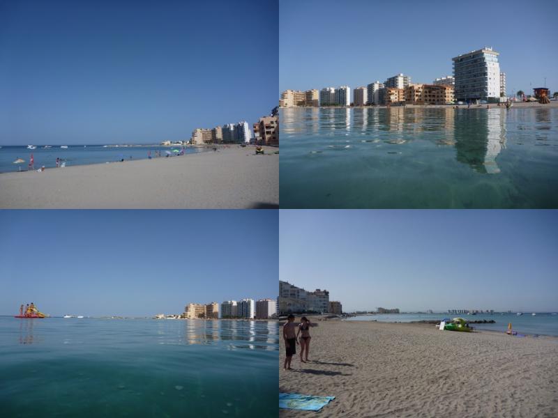Estation del Peurte beach est une grande plage dorée et fermer