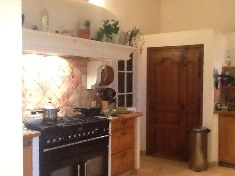 kitchen with large pantry cupboard - windows, sink etc out of shot on right