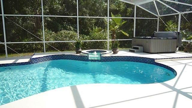 Secluded pool with 59 Jet Jacuzzi/Hot Tub