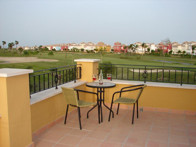 View of golf course from villa