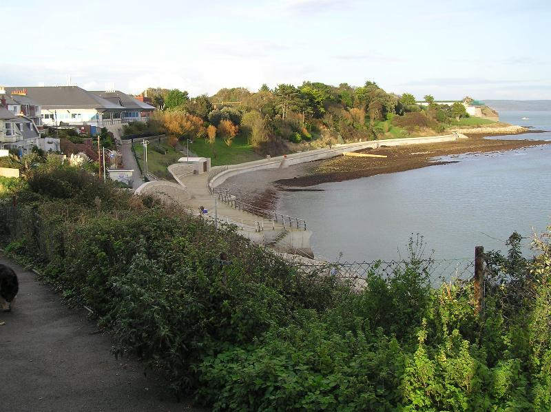 Vista de Newtons Cove, Nothe Gardens, Fort e 2012 locais de vela olímpica!