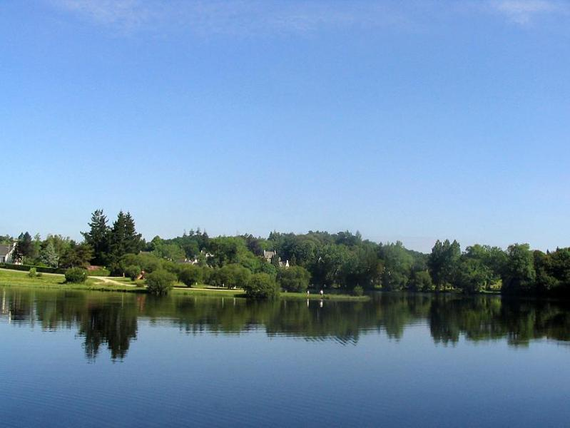 View from other side of lake. Lake View Villas can be seen in the trees in the middle of the picture