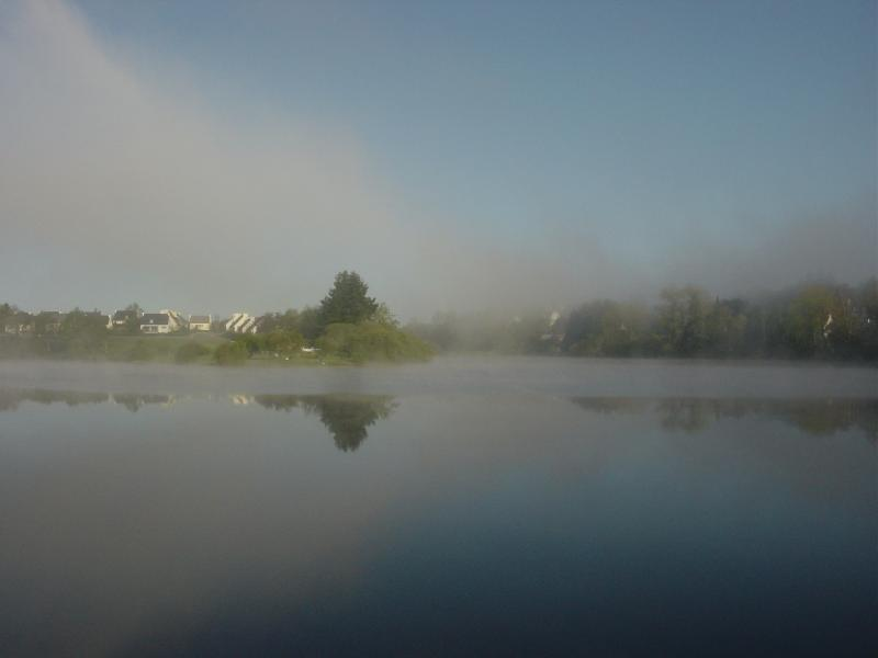 The Lake in Huelgoat - early morning mist.
