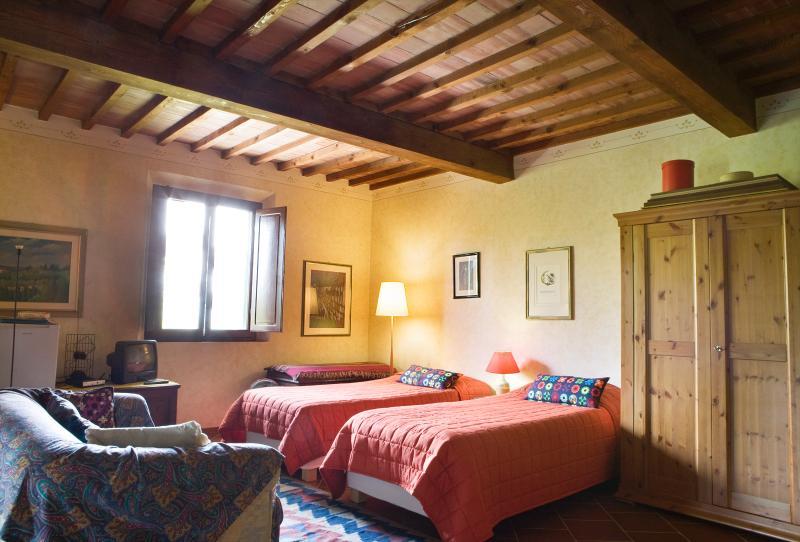 la stanza con i due letti