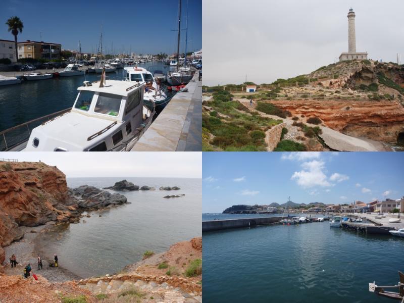 Cabo de Pelos, port. Port de pêche ancienne et de la marina à la base de la bande