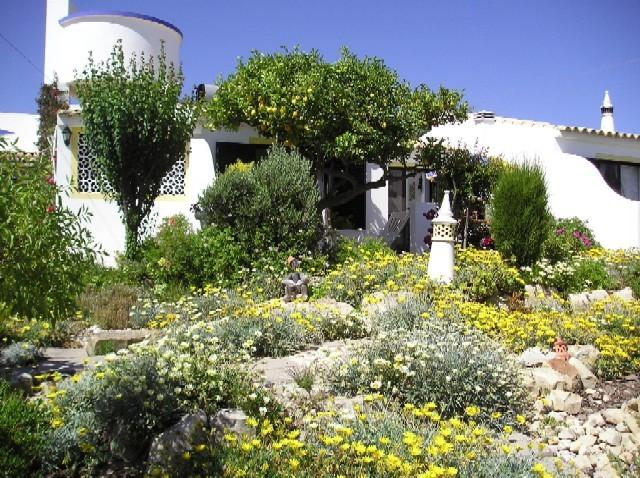 Gardens looking up to the Lemon Cottage