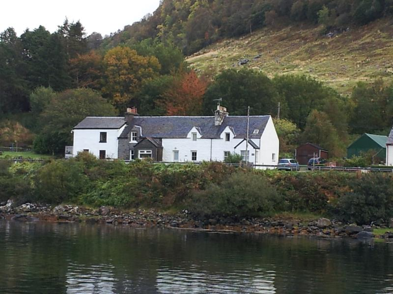 Cottage from across the Loch