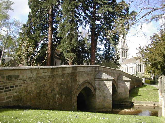 The bridge in Ketton (with St Mary the Virgin Church in background)