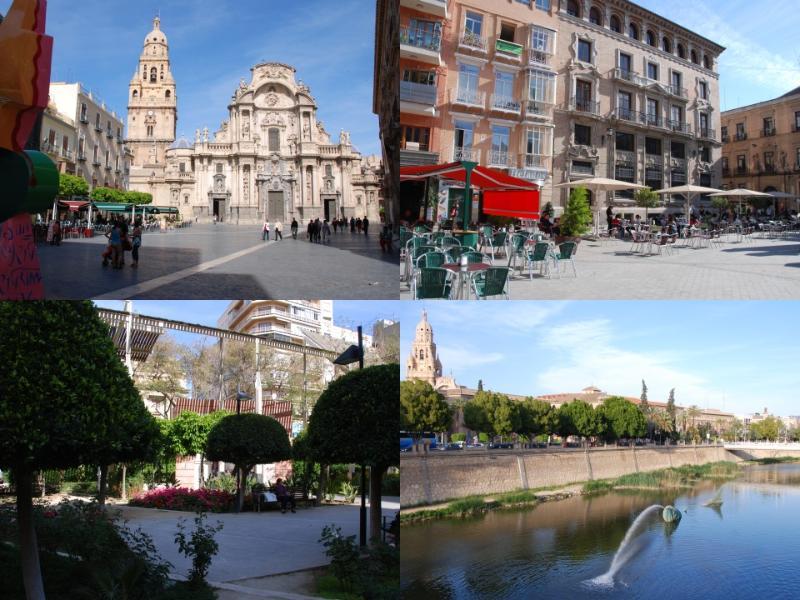 La ville de Murcia, la capitale de la région et mérite une excursion d'une journée