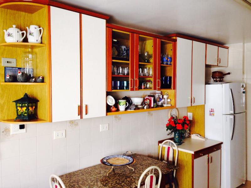 Kitchen and breakfast table.