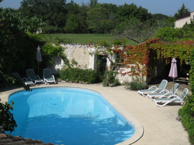 Pool with walled garden