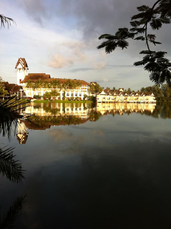 view across the other side of lagoon
