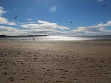Printemps de plage de Duncannon tourné