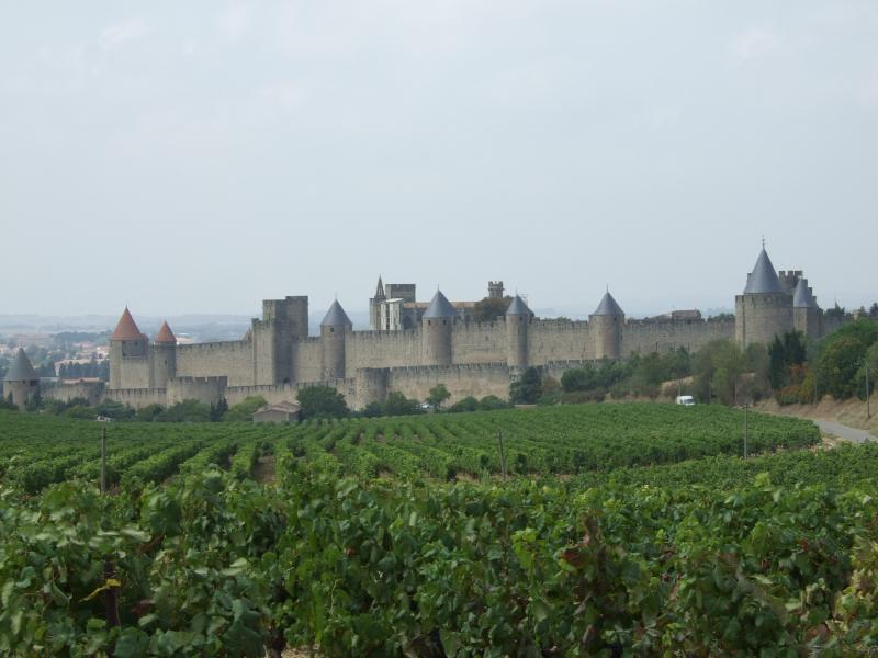 The castle in Carcasonne, nearby