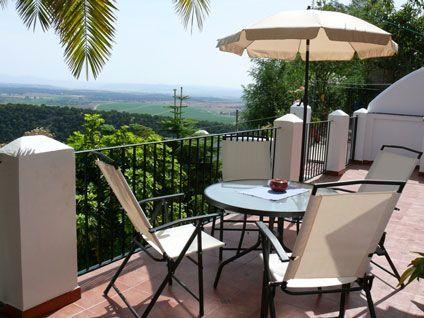 Terrace with splendid views over the valley