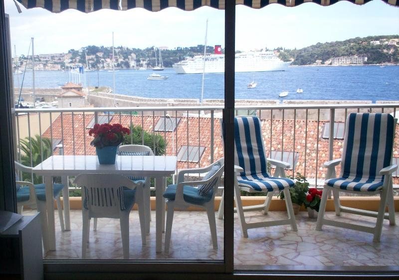 The bay and Cap Ferrat from the balcony