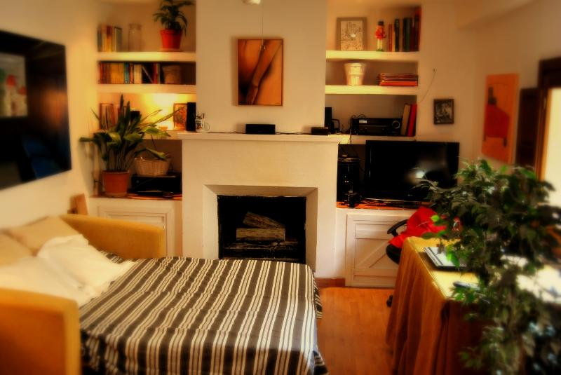 1 sofa bed (open)