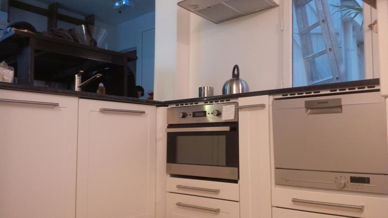 combinação de máquina de lavar louça e forno de cozinha