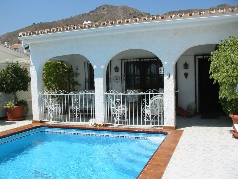 Pool and terrace at the front of the Villa