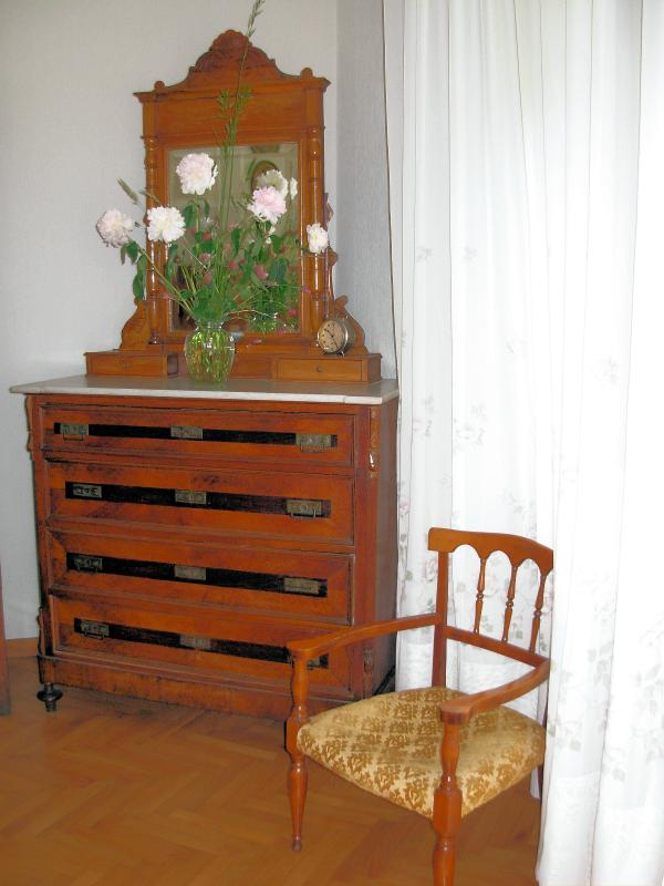Antique furniture in bedroom