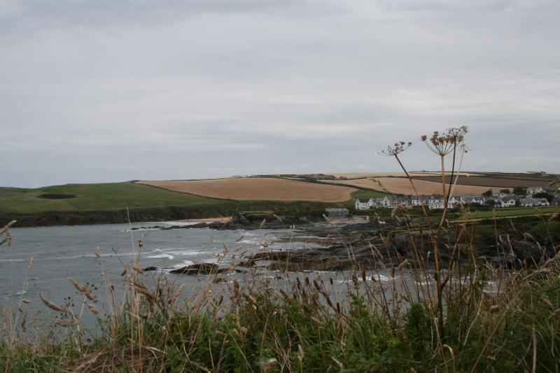 Promenade côtière - Trevone baie dans le lointain