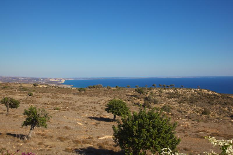 The view from our house, towards the Akrotiri peninsular