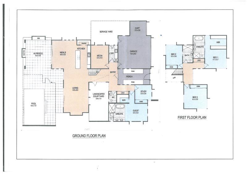 Plan van het huis en lay-out