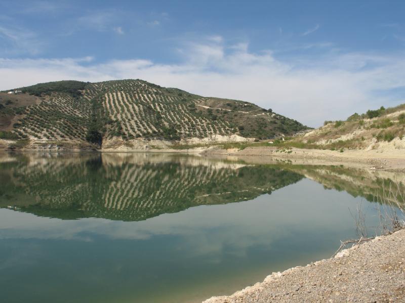 A nearby lake