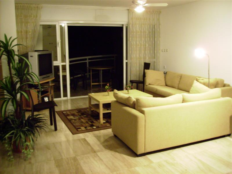 Living area with access to balcony