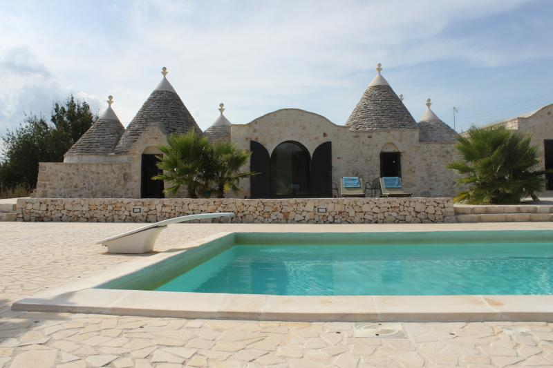 Trulli and pool