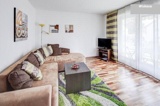 Living room, balcony