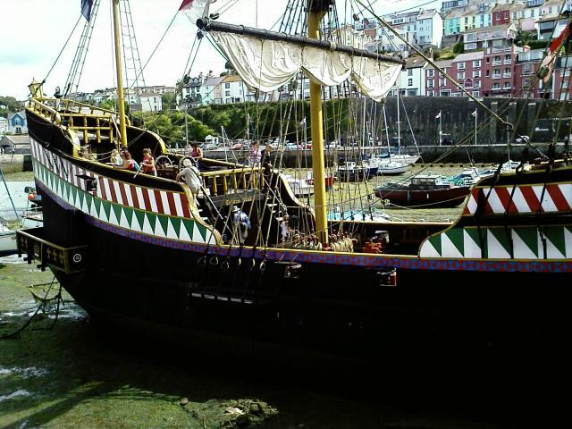 The replica of the Golden Hind in Brixham
