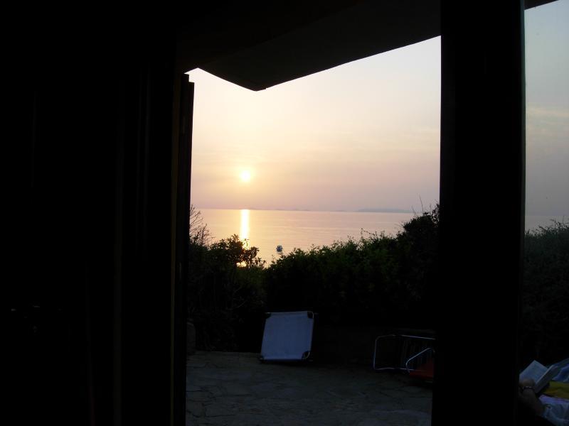 il tramonto dal divano
