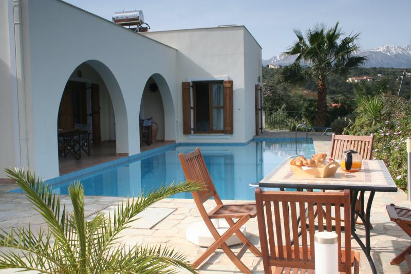 Pool terrace - ideal for a late breakfast with freshly squeezed local oranges...